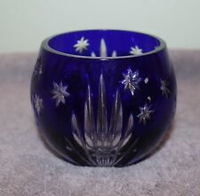 AJKA HUNGARY COBALT BLUE CUT GLASS DESIGN GUILD