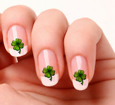 20 Nail Art Decals Transfers Stickers #176 - Irish Lucky four leaf clover