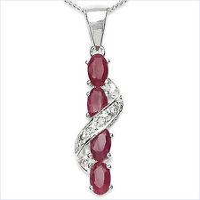 Collier/cadena con diamante/rubin-remolque de 1,41 quilates