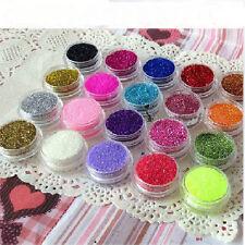 12xPailletée Poudre Glitter Brillant Ongle Acrylique UV Gel Manucure Nail Art