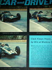 UNITED STATES GRAND PRIX GP WATKINS GLEN 1962 JIM CLARK COLIN CHAPMAN LOTUS 25