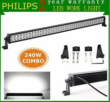 PHILIPS 42inch 240W LED Light Bar SPOT FLOOD Off-road Driving Lamp Car SUV Truck