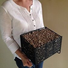 Pellet Basket Insert for Wood Stoves, Burn Wood Pellets For Heating