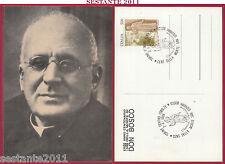 ITALIA MAXIMUM MAXI CARD CENTENARIO MORTE S. DON GIOVANNI BOSCO 1988 TORINO B630