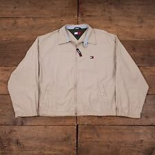 "Mens Tommy Hilfiger Vintage Preppy Cotton Harrington Jacket Beige XL 50"" R3950"