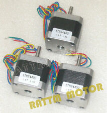 【FREE SHIPPING】3PCS Nema17 CNC Stepper Motor 40mm/58 Oz-in/1.3A for 3D Printe