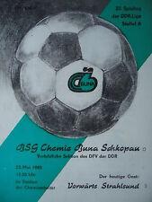 Programma 1984/85 BSG Chemie Buna Schkopau-VW. Stralsund