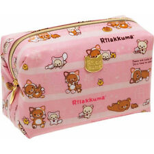 "San-X Rilakkuma ""Relax"" laid-back cat theme Pink Pouch (CT95501) 25C16"