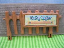 VTG Littlest Pet Shop 1993 ZOO NURSERY BABY TIGER BROWN BAMBOO FENCE REPLACEMENT