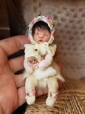 *~OOAK, One Of A Kind Miniature Elfin Girl& Baby *Flora* *By Shell******ONE DAY!