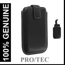 Genuine iPhone 4/3G/3GS Protec Executive Leather Case Cover Pouch Pocket - Black