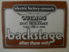 Outlaws/Doc Holiday-backstage pass-after show only at  Tower February 17, 1977