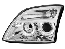 Fari Opel Vectra C 02-04 2 cerchi angel eyes chrome