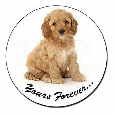 "Cockerpoodle Puppy ""Yours Forever..."" Fridge Magnet Stocking Filler C, AD-CP6yFM"