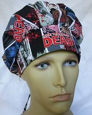 WALKING DEAD SURGICAL SCRUB HAT THEATRE CAP BANDED BOUFFANT ANATOMY
