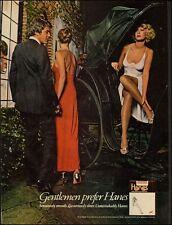 1976 Print Ad`Hanes`Stockings`Sexy Legs`Lingerie (052714)