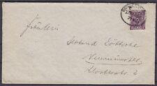 DR Mi Nr. 224 EF auf Brief mit BP Bahnpost St. nach Neumünster, Infla