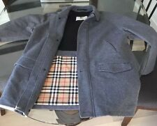 Burberry London Men's Grey Wool And Cashmere Coat Size X-large Plaid Interior
