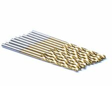 "10Pcs Pack 3/32"" HSS Titanium Coated Jobber Length Twist Drill Bit Metal Wood"