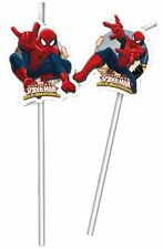Marvel Ultimate Spider-Man Boys Birthday Party Drinking Straws - 6 pack