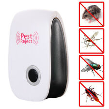 Electronic Ultrasonic Anti Pest Bug Mosquito Cockroach Mouse Reject Repellent