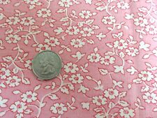 """Vintage Feedsack Print Fabric- Pink & White Small Floral 38"""" x 40"""""""