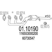 MARMITTA TUBO COLLETTORE ALFA 75 - 90 - ALFETTA - GIULIETTA 1.8 2.0 60528601