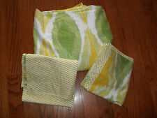 Thresold for Target Ikat Yellow/Green/White King Duvet Cover Set 3pc
