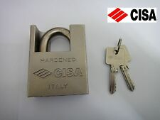 CISA HARDENED & PROTECTED CLOSE SHACKLE STEEL BRASS BODY PADLOCK - 62mm - NEW