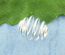 100Pcs Silver Plated Spiral Spacer Beads Cages Jewelry Findings Component 8x9mm