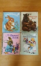 Vintage A Little Golden Book lot of The Bunny Where is Bear Mother Goose more!