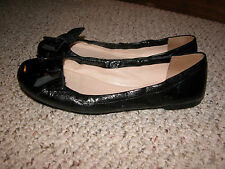 Prada black leather bow flats  Womens 39 (US 9)   Worn 3-4 times