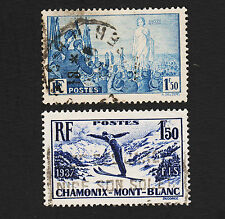 1936-7 France Sc#321-322 Used Sound
