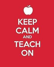 Keep Calm and Teach On : A Gift Journal for Teachers by BlueIconStudio.com...