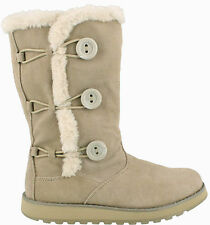 Skechers Keepsakes Canoodle Beige 3 Button Fur Lined Winter Boots UK7 RRP £79.99