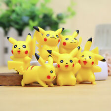 6Pcs/Lot Pokemon Center Pikachu Monster Collections Action Figures Kids Doll Toy