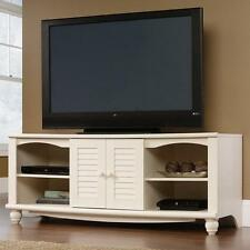 TV Stand Entertainment Center Console Credenza Storage Cabinet Antique White