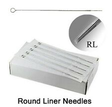 50 Pcs Disposable Stainless Steel Sterile Tattoo Needles (7R 1207RL) Round Line