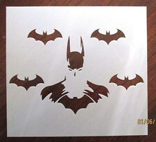 Batman with Bat Friends Stencil for Airbrush, Crafting, Artwork