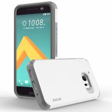 RANZ HTC 10 (One M10) White Impact Dual Layer Shockproof Bumper Silicone Case