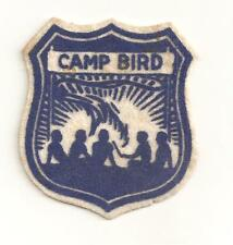 1940'S OR 1950'S  CAMP  BIRD  FELT PATCH   WISCONSIN