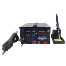3in1 800W 853D SMD Rework Soldering Iron Station Hot Air Gun15V 1A Power Supply