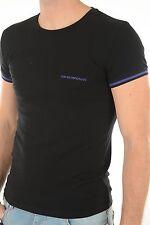 BNIB WITH TAGS Men's EMPORIO ARMANI  Logo Black Tee. Sizes: S-XL