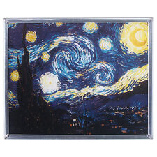 TIFFANY STYLE VINCENT VAN GOGH'S STARRY NIGHT STAINED GLASS WINDOW ART NEW