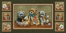 Spectrix Bear Hugs by Giordano Studio 24531 MUL1 24'' PANEL Cotton Fabric