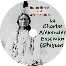 Indian Heroes and Great Chieftans, Charles Eastman Tribe Audiobook on 1 MP3 CD