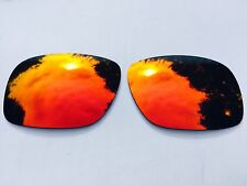 NEW POLARIZED FIRE RED MIRRORED REPLACEMENT OAKLEY HOLBROOK LENSES