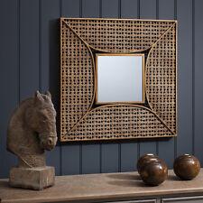 Style marocain en verre carré découpage cadre miroir or marocain maroc neuf
