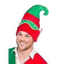 ELF HAT WITH EARS NOVELTY CHRISTMAS HAT PARTY XMAS FUNNY GIFT FANCY DRESS SANTA