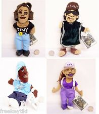 """4 Lil Homies NWT Mexican Black Raza Chola Gangster 9"""" Plush Dolls Collection"""